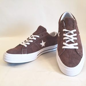 Converse One Star Classic Sz10 OX SUEDE Brown NWOB